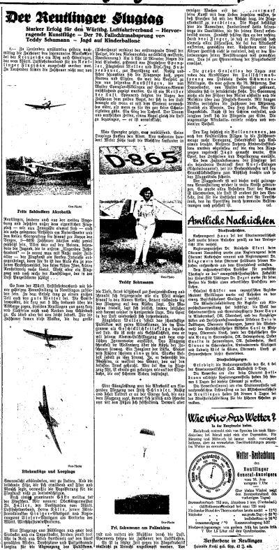 Reutlinger General-Anzeiger 1930-06-16 Fritz Schindler S.5