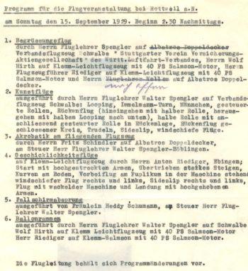 Rottweil Flugveranstaltung 1929-09-15 mit SpenglerSchindler Hirth Schumann Riediger (HR)
