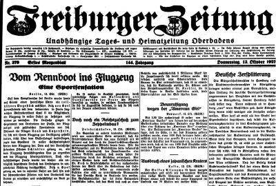 Schindler Freiburger Zeitung 1927-10-13