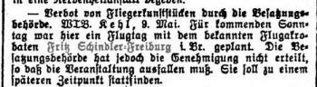 Schindler Hamburger Anzeiger 1930-05-10