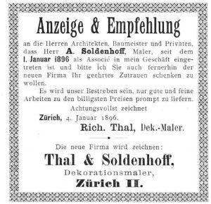 Schweizerische Bauzeitung 27-28 1896 - Soldenhoff Anzeige