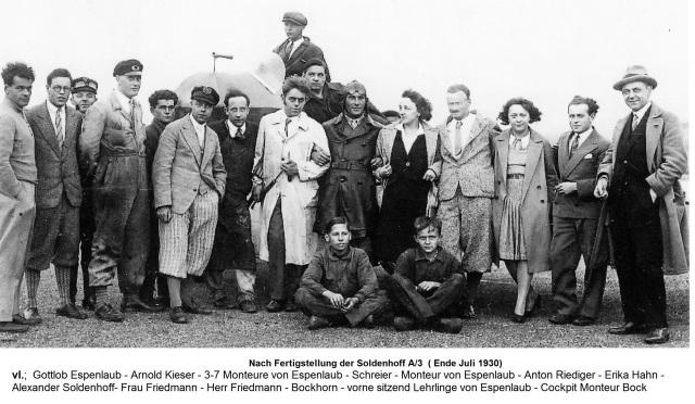 Soldenhoff Düsseldorf 1930-07 mit Personen