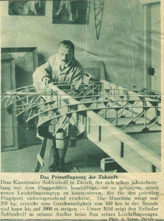 Soldenhoff im Atelier ca 1928