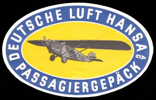 Dornier Komet III D-552 Luft Hansa 1926 Gepäck