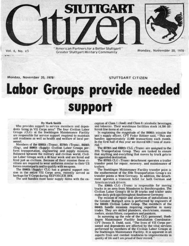 Stgt Citizen 8404 1978 6 Labor Groups provide
