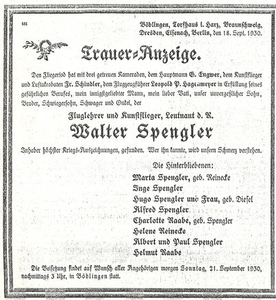 Traueranz. Spengler 01