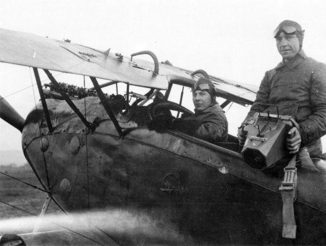 Paul Strähle mit Fotograf Grüberl Fotoflug 1924