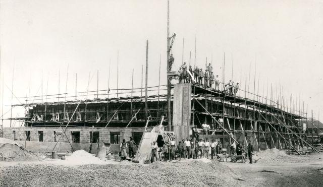 BB-Flughafen 0 Halle 1 im Bau 1925