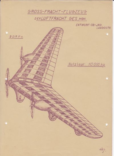 Langguth Gross-Fracht-Flugzeug Nutzlast 10.000 kg