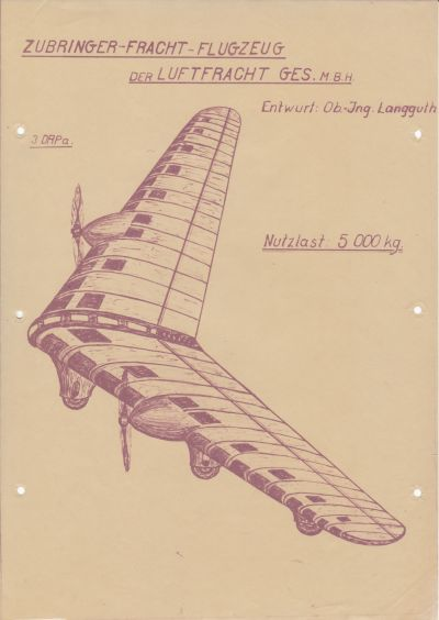 Langguth Zubringer-Fracht-Flugzeug Nutzlast 5.000 kg