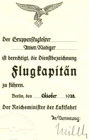 1938-10 Anton Riediger Flugkapitän (HR)