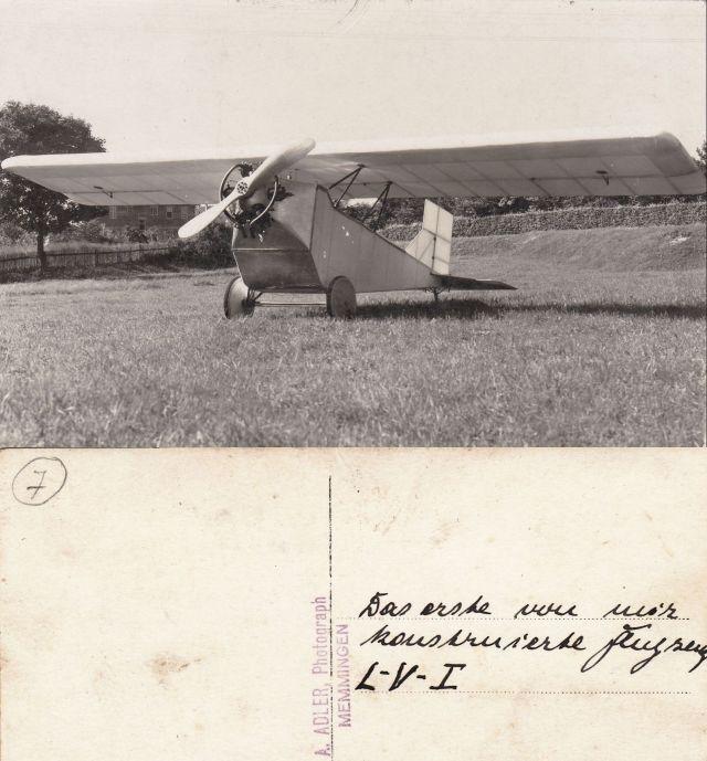 Wilhelm Langguth VLI das erste von mir konstruierte Flugzeug-hp