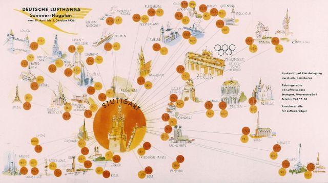 Deutsche Lufthansa Sommerflugplan 1936