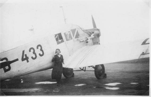 Else Kopp-Wagner Lufthansa D-433 Junkers F13 bi